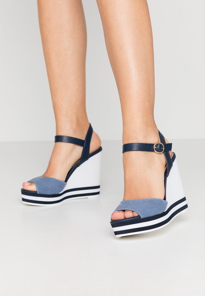 ALDO - BROA - High heeled sandals - navy