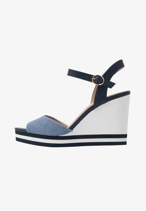 BROA - Sandaler med høye hæler - navy