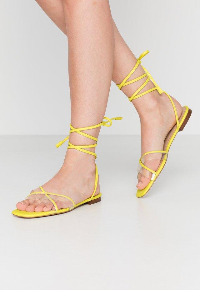 CANDID - Riemensandalette - bright yellow