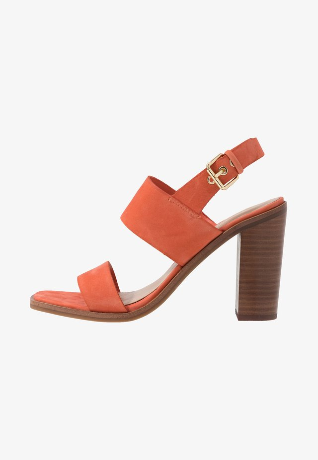 FIELIA - Sandalen met hoge hak - orange