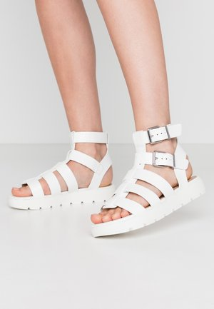 GLASSY - Platform sandals - white