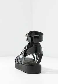 ALDO - GLASSY - Platform sandals - black - 5