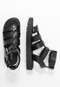 ALDO - GLASSY - Platform sandals - black - 3
