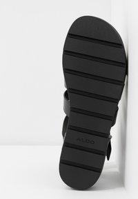 ALDO - GLASSY - Platform sandals - black - 6