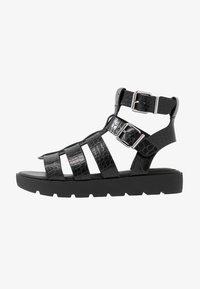 ALDO - GLASSY - Platform sandals - black - 1