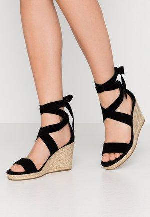 LARETTA - Sandály na vysokém podpatku - black
