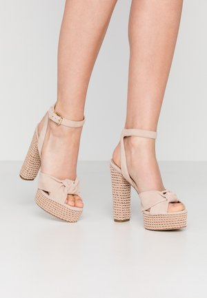 LAURIERS - High Heel Sandalette - bone