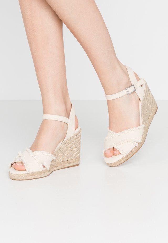 ONAREWIA - High heeled sandals - natural