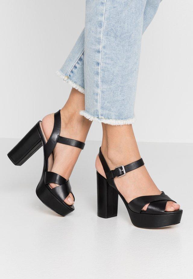 PLATINA - High Heel Sandalette - black