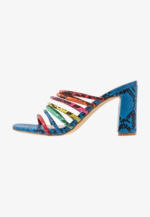 TRELIDDA - Heeled mules - bright multicolor