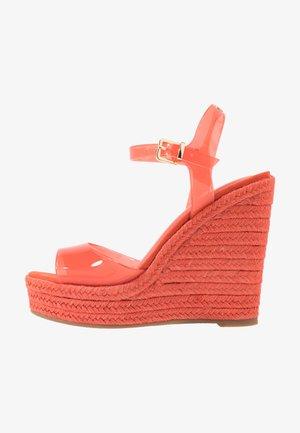 ZERRASEN - High heeled sandals - light orange