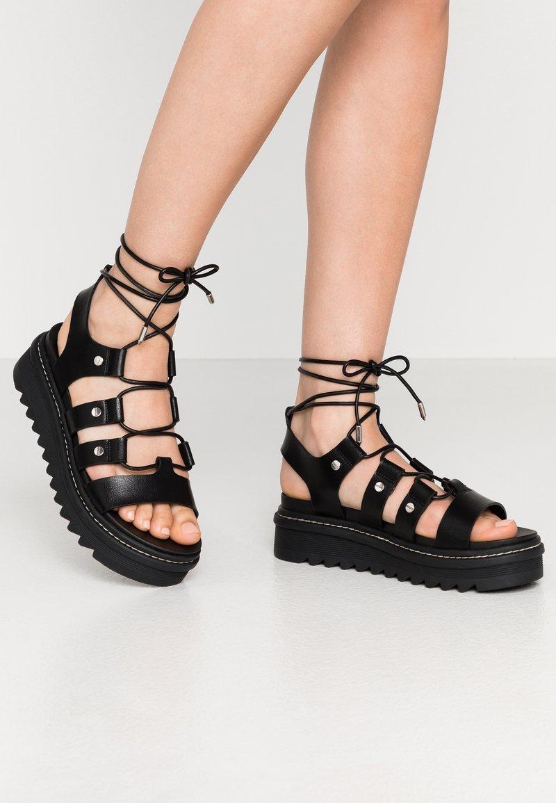 ALDO - DASDEZ - Platform sandals - black