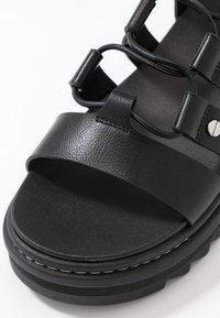 ALDO - DASDEZ - Platform sandals - black - 2