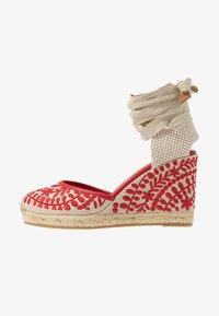 ALDO - MUSCHINO - Sandály na vysokém podpatku - red - 1