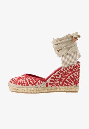 MUSCHINO - Sandaler med høye hæler - red
