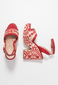 ALDO - QUINTINIA - High heeled sandals - red - 3