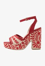 QUINTINIA - High heeled sandals - red
