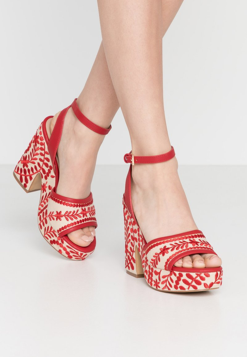ALDO - QUINTINIA - High heeled sandals - red