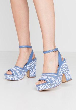 QUINTINIA - Sandály na vysokém podpatku - blue