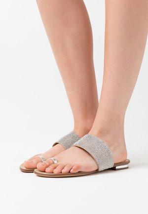 OLIRESSA - T-bar sandals - silver