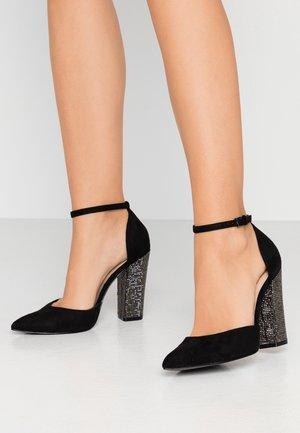 NICHOLES - High heels - black/silver