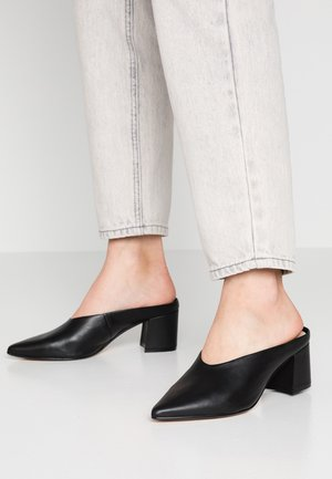 ASIRARI - Pantofle na podpatku - black