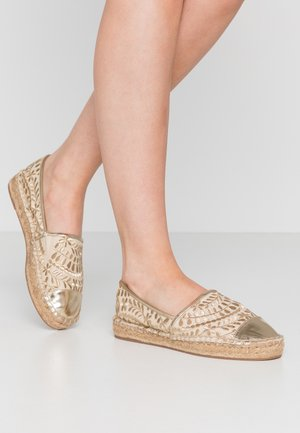 CINCO - Espadryle - gold