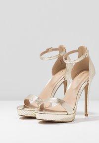 ALDO - MADALENE - Sandaler med høye hæler - gold - 4