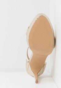 ALDO - MADALENE - Sandaler med høye hæler - gold - 6