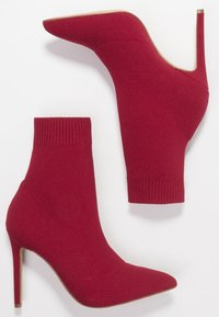 ALDO - YSISSA - High heeled ankle boots - red - 3