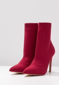 ALDO - YSISSA - High heeled ankle boots - red - 4