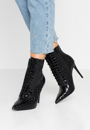 ALYLYAN - High heeled ankle boots - black