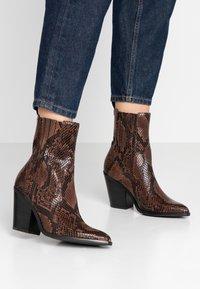 ALDO - DRERISSA - High heeled ankle boots - brown - 0