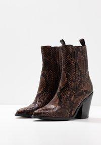ALDO - DRERISSA - High heeled ankle boots - brown - 4