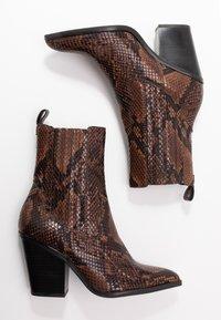 ALDO - DRERISSA - High heeled ankle boots - brown - 3
