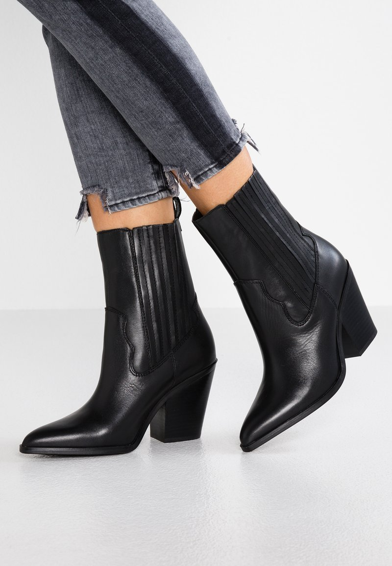 ALDO - DRERISSA - High heeled ankle boots - black