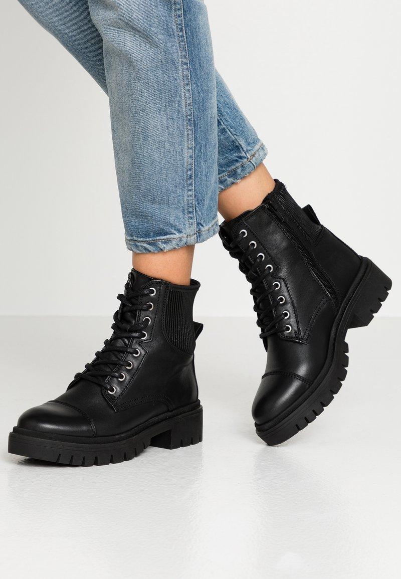 ALDO - ADRIAMA - Lace-up ankle boots - black