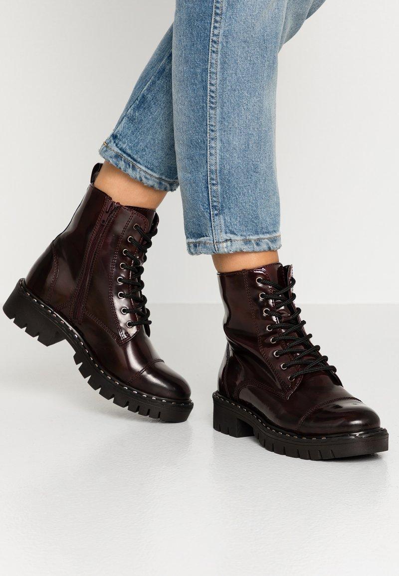 ALDO - GWEMMA - Platform ankle boots - bordo