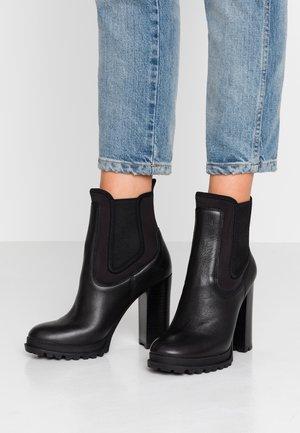 ELRUDIEN - High heeled ankle boots - black