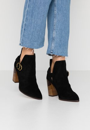 KENDALL - High heeled ankle boots - black