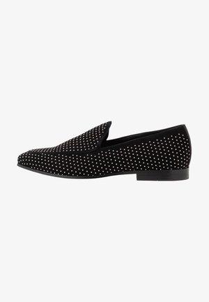 QIRARIEN - Slippers - black/silver