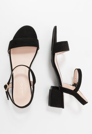 OLYNI - Sandaalit nilkkaremmillä - black