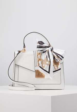 GLENDAA - Handbag - bright white/gold-coloured