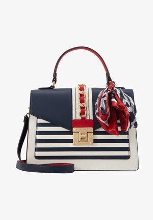 GLENDAA - Håndtasker - peacoat/white/red