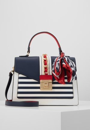 GLENDAA - Bolso de mano - peacoat/white/red