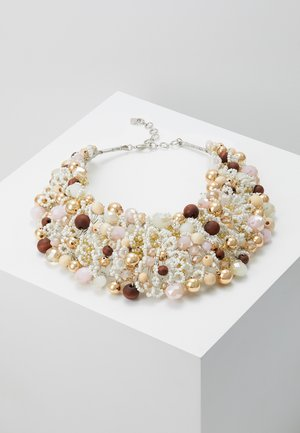 ARVAN - Collar - brown/blush/crystal