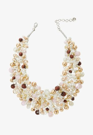 ARVAN - Necklace - brown/blush/crystal