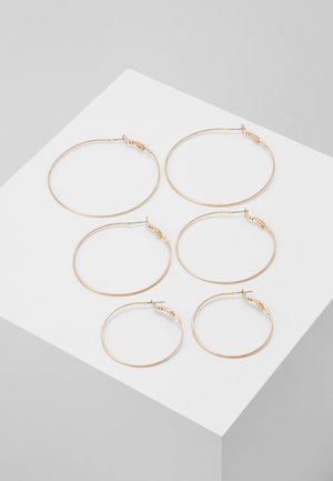TANGUINA 3 PACK - Earrings - gold-cooured