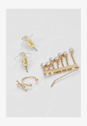 ALDEIA SET - Earrings - clear/gold coloured