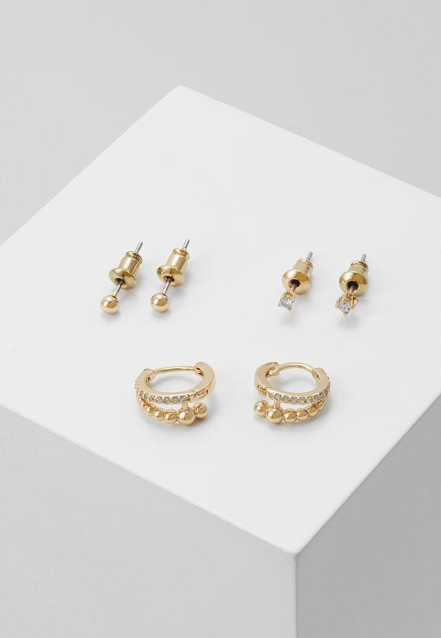 ARCHIVA SET - Boucles d'oreilles - clear/gold-coloured